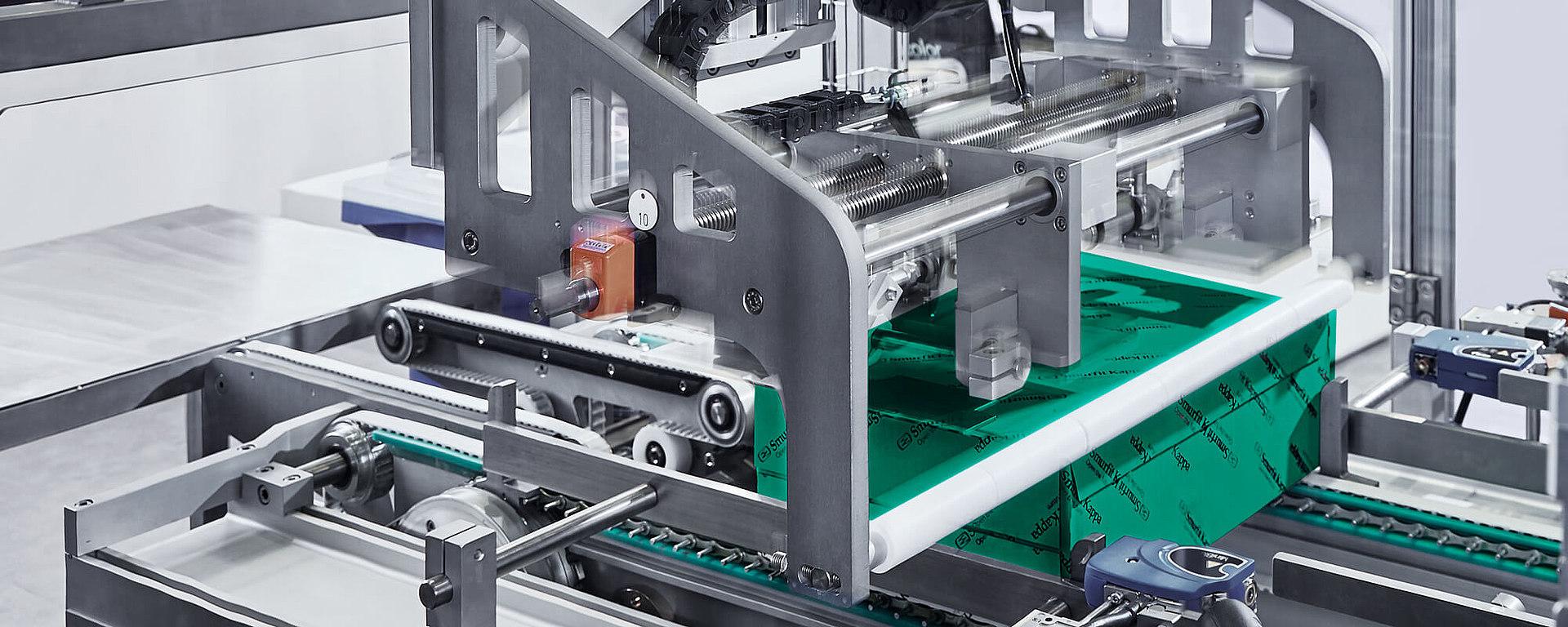 Die Verpackungsindustrie wird als Beispiel für Getriebeanwendungen gezeigt