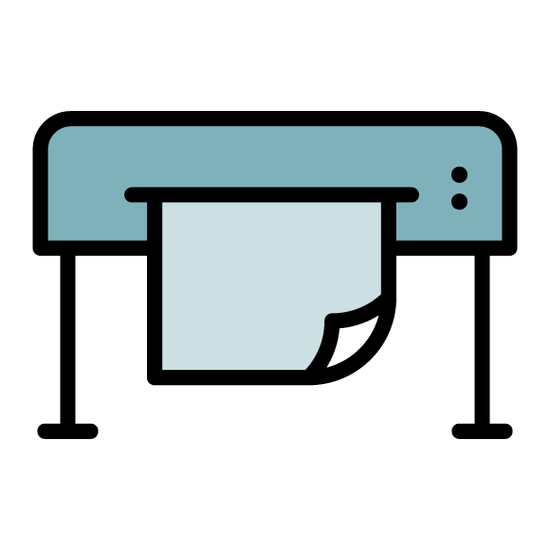 Icon of a printer for the printing branch
