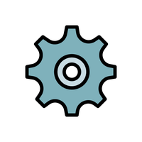 A gear icon indicating the machine tools branch