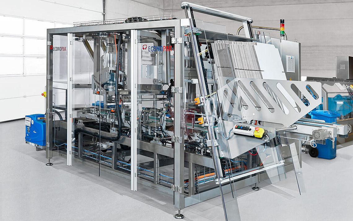 Die Verpackungsmaschine von Econo-Pak.